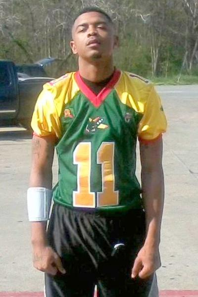 "Cherod ""Chop Stick"" Peebles is playing semi-pro football with the Tuskegee Ayrmen."