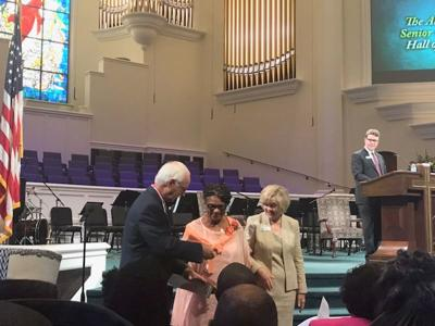 Mrs. Evergreene Freeman was inducted into the Annual Hall of Fame for Senior Services.