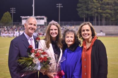 Abigail Gaston was crowned Homecoming Queen of Guntersville High School at half-time of the football game on Thursday, October 24, 2019. She is the daughter of the Rev. Dr. Jackie Gaston, Jr. and Mary Shea Gaston of Guntersville and the granddaughter of Faye Gaston and the late Jackie Gaston, Sr. of Union Springs and Mr. and Mrs. Dan Buchanan of Huntsville. Left to right, Jackie, Abigail, Faye and Mary Shea.
