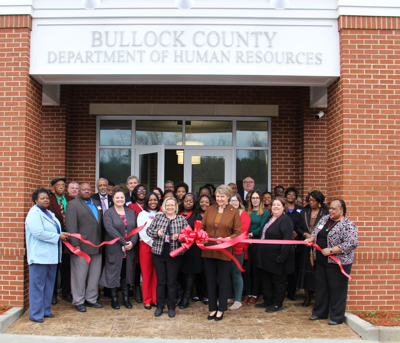 The Bullock County Department of Human Resources (DHR), 334-738-0111