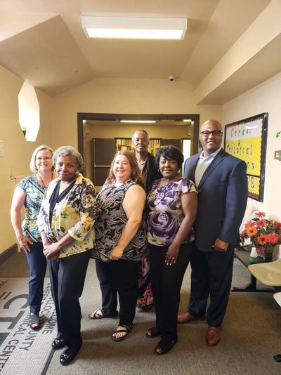 Left to right: Tracy Larkins, Lessie Daniel, Sherry Culpepper, Veronica Howard, Juanita Smith, and Dr. Marvin Lowe.