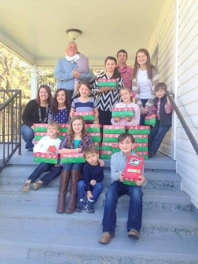 Front row, left to right: Sawyer Powell, Kayden Glover, Brice Roten, and Austin Boswell; Second row, left to right: Ashley Powell, Emma Boswell, Anna Miller, and Claudia Pickett; Standing: Rev. Josh Powell, Barrett Powell, Maggie Miller, Lamar Boswell, Catherine Miller and Kase Glover
