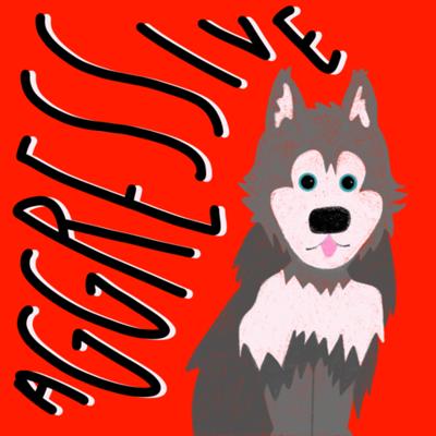 Aggressive Dog Breed Illustration