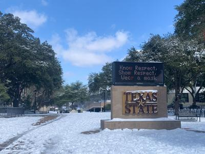Texas State snow