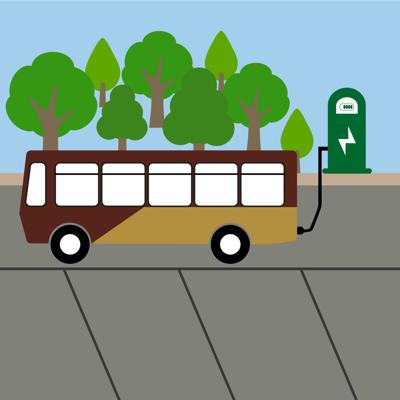 An Electric Bus Illustration