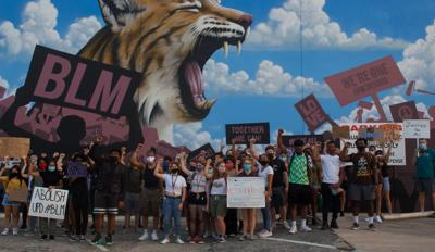 Black Lives Matter protesters march on campus, call for local support