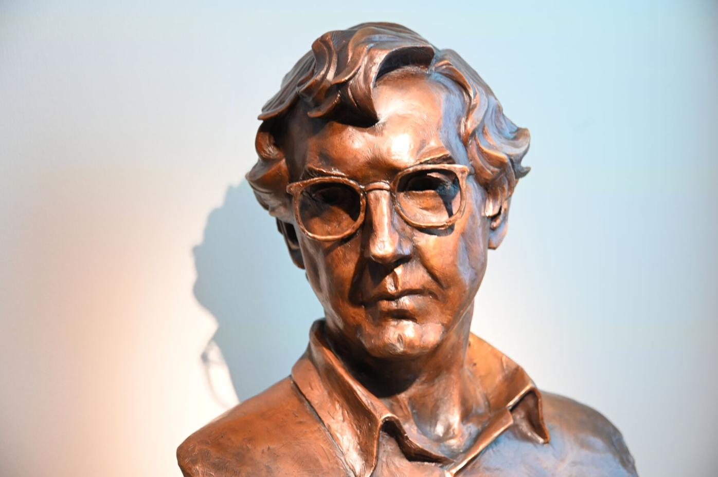Larry McMurtry sculpture
