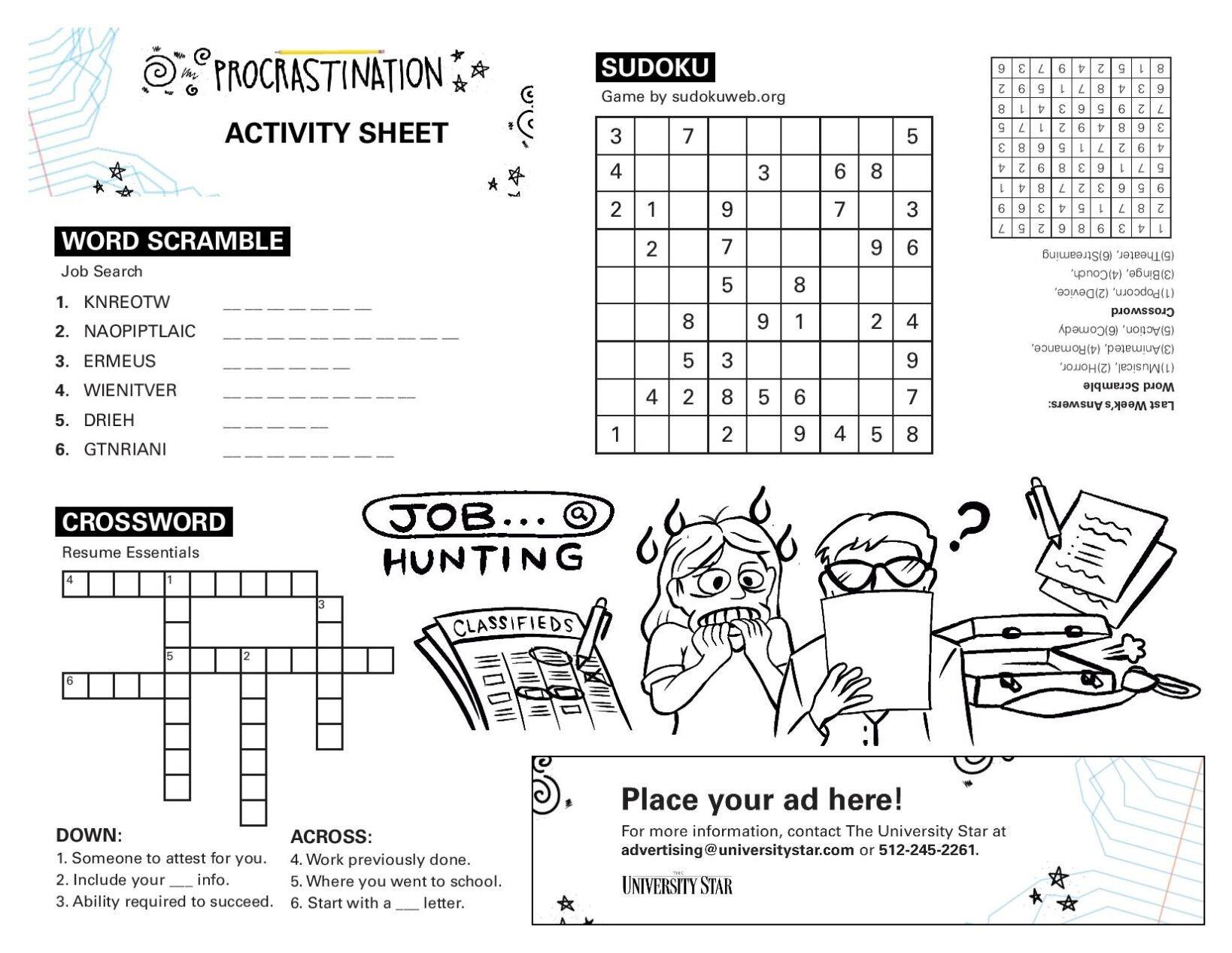 11/17 printable activity sheet.