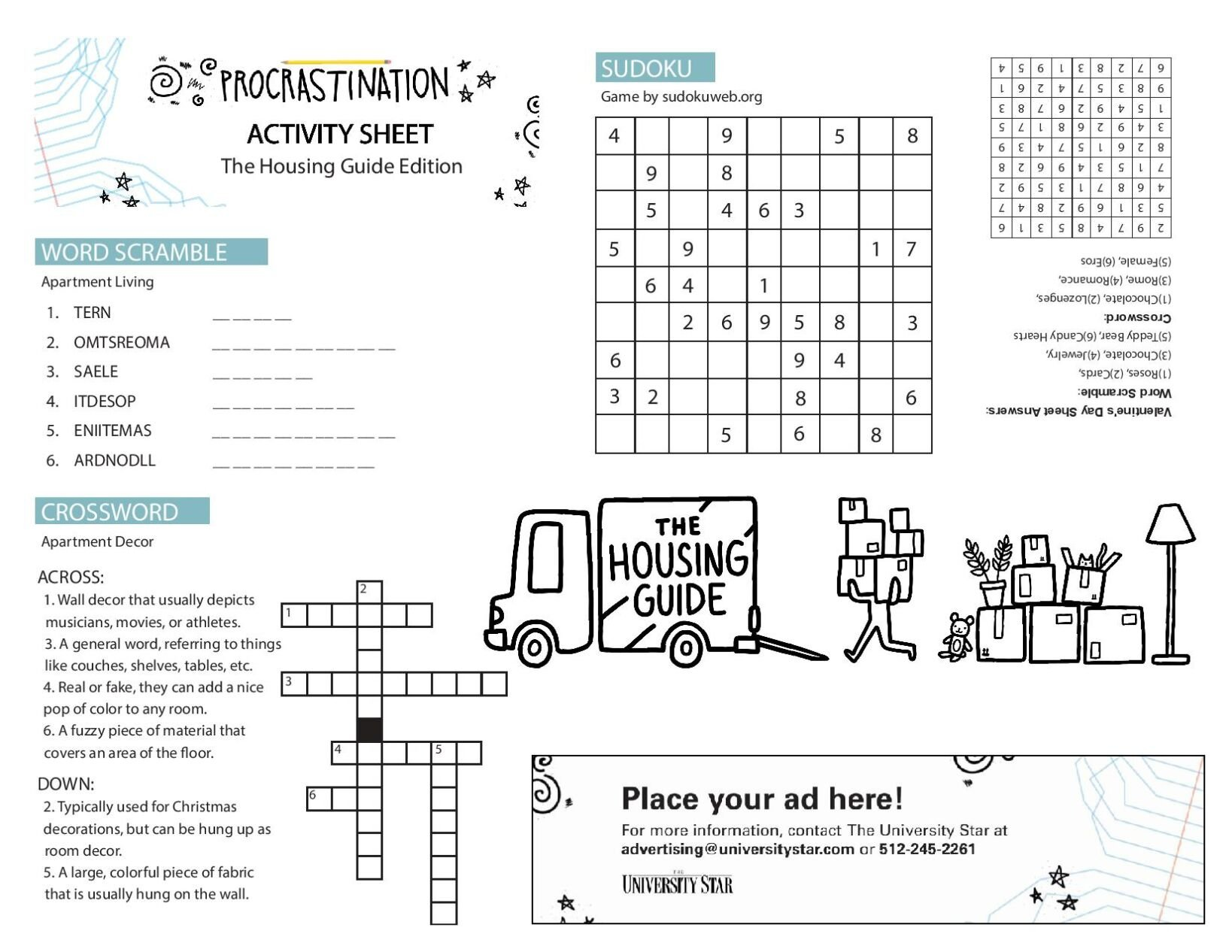 Our printable activity sheet.