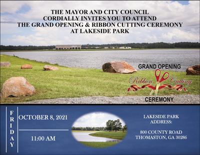 Lake Thomaston Grand Opening Ribbon Cutting Ceremony Set October 8