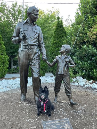 Powers Find Andy Griffith  Statue While Traveling