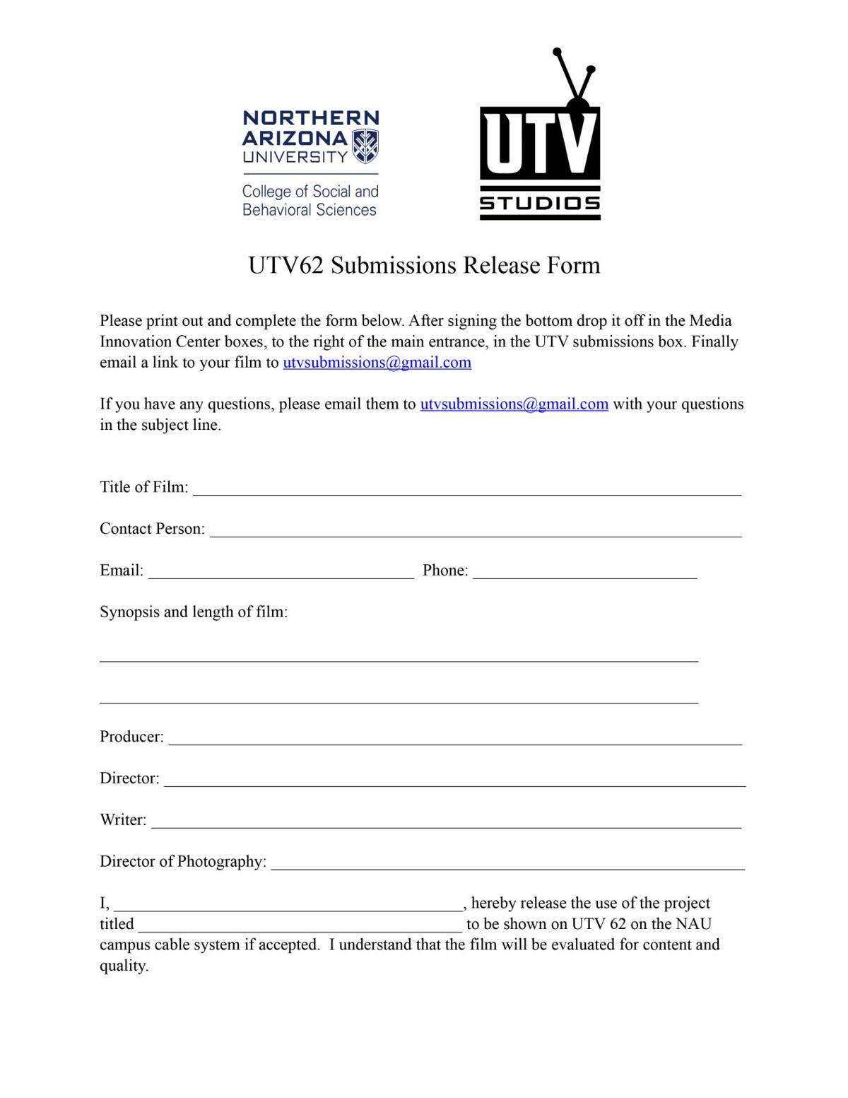UTV Short Film Submissions