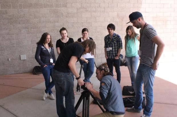 Students work with Matt Brewer and Ryan Massey