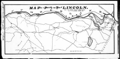 Establishing a new community: early Lincoln map