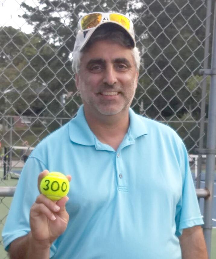 Jerry Rubino with 300th win ball