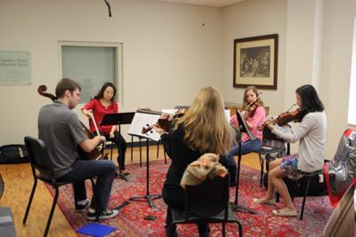 Civitas Ensemble coaching Valpo music students