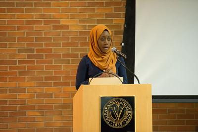 Muslim activist speaks about rasicm, adversity and charity