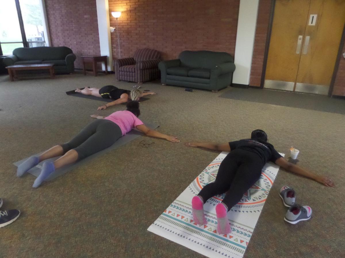 Relaxation night led by freshman yoga instructor
