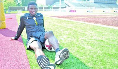 Junior striker eludes war, finds security in soccer team