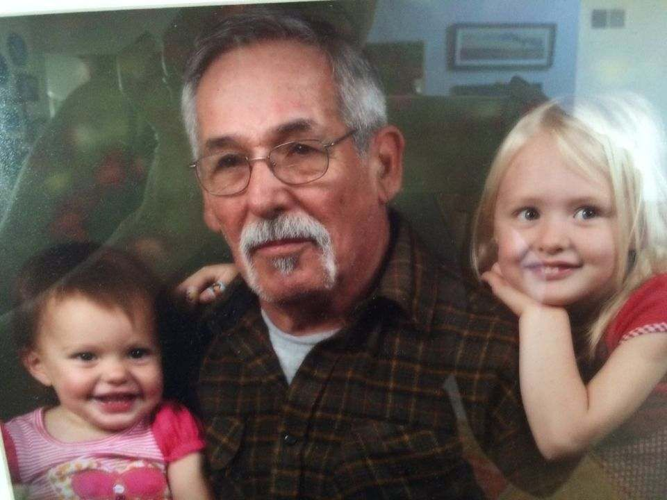 Charlie and granddaughters