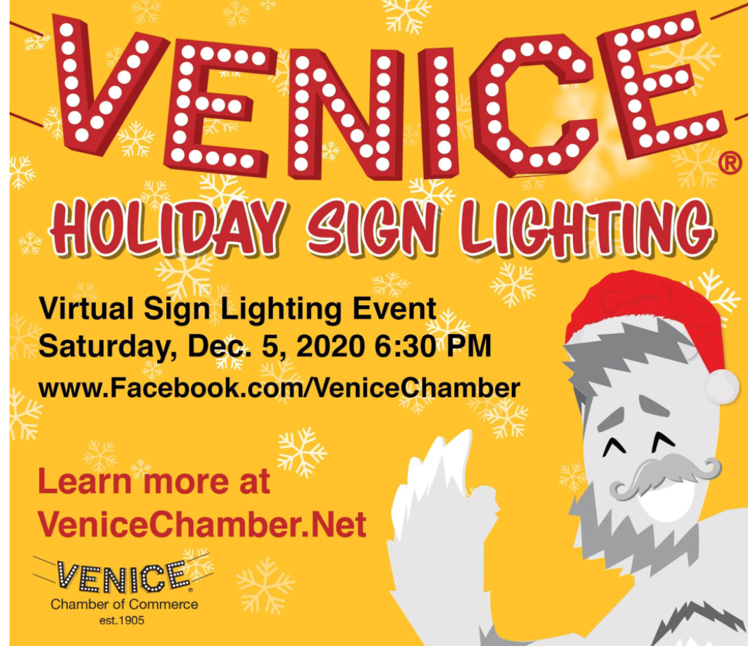 Venice Sign Lighing poster
