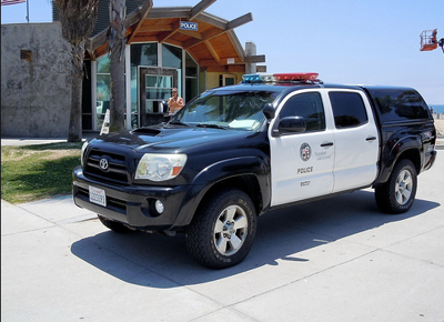 LAPD Beach patrol police car