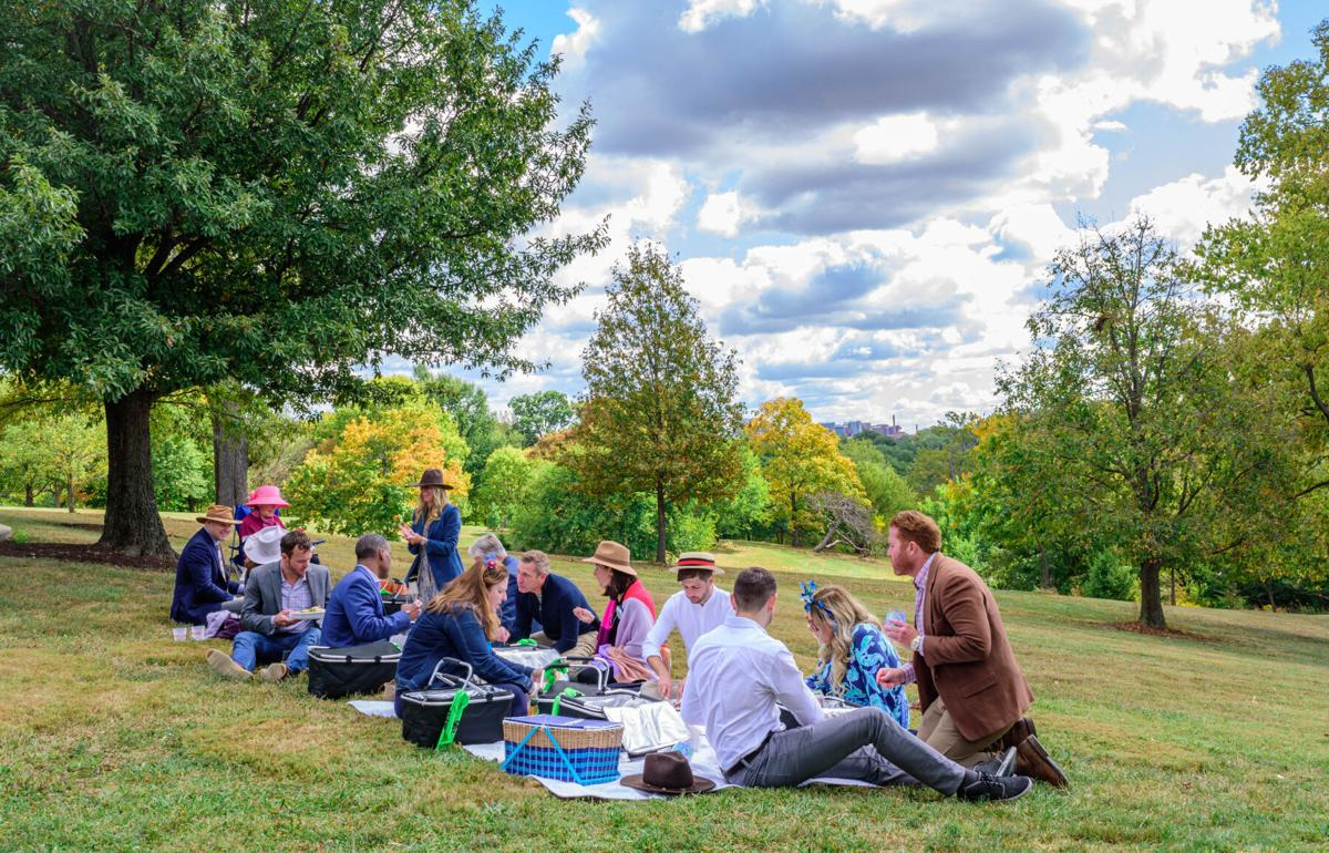 Guests at the 2020 HOL Picnic in Your Parks, enjoying a picnic spread at Mt. Storm.jpg.jpg