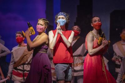 """Verona Area High School performs """"Xanadu"""" in first live show back since the start of the COVID-19 pandemic"""