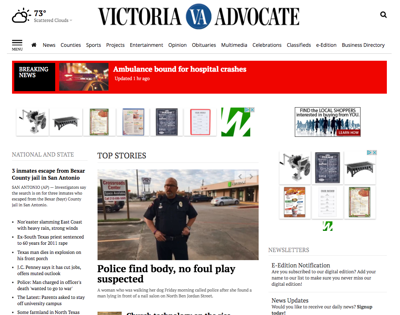 New Advocate website