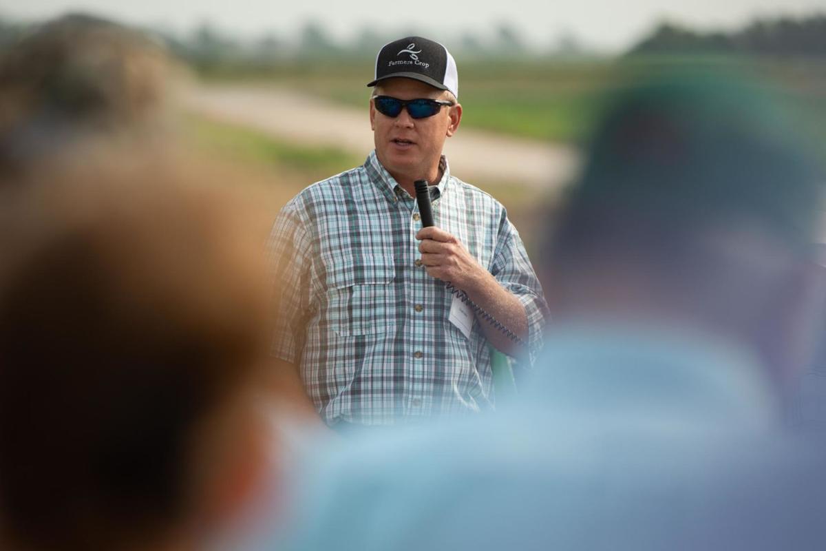 Participants in soil health short course tour Hahn Farm
