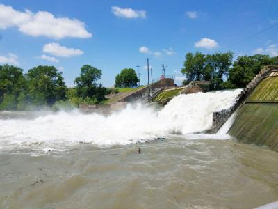 Gaudalupe River flowing faster after dam failure