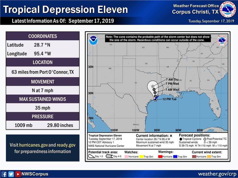 Tropical storm makes landfall in Freeport