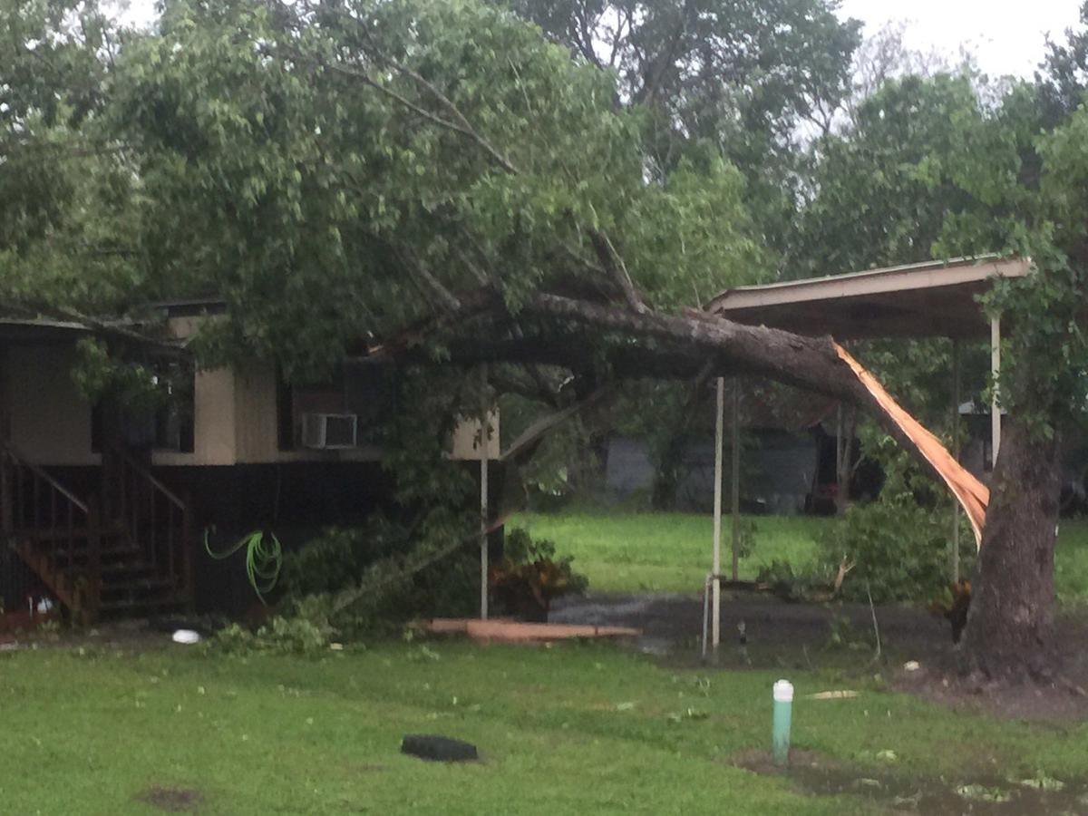 Light to moderate damage reported in Ganado from storms