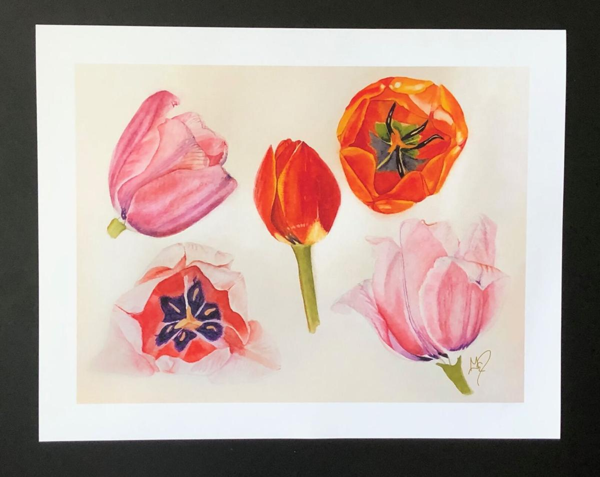 Reprint of tulips by Gail Dentler