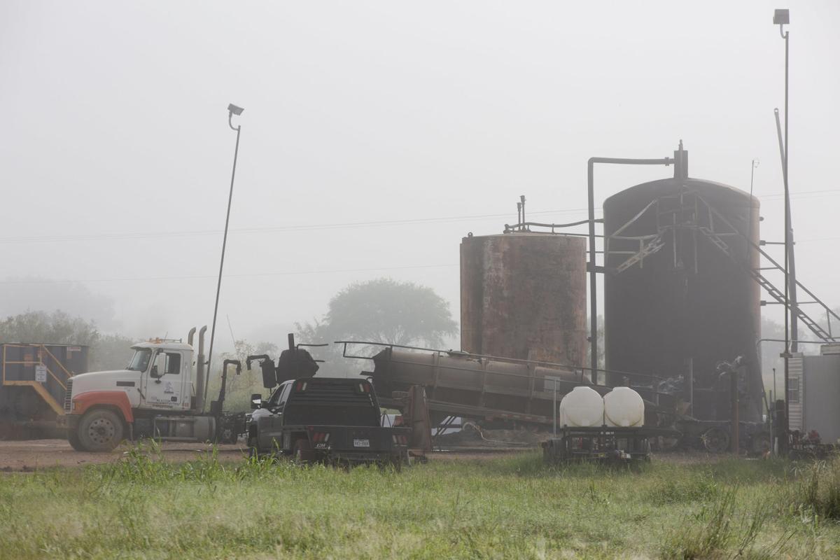 Fire at oil feild facility