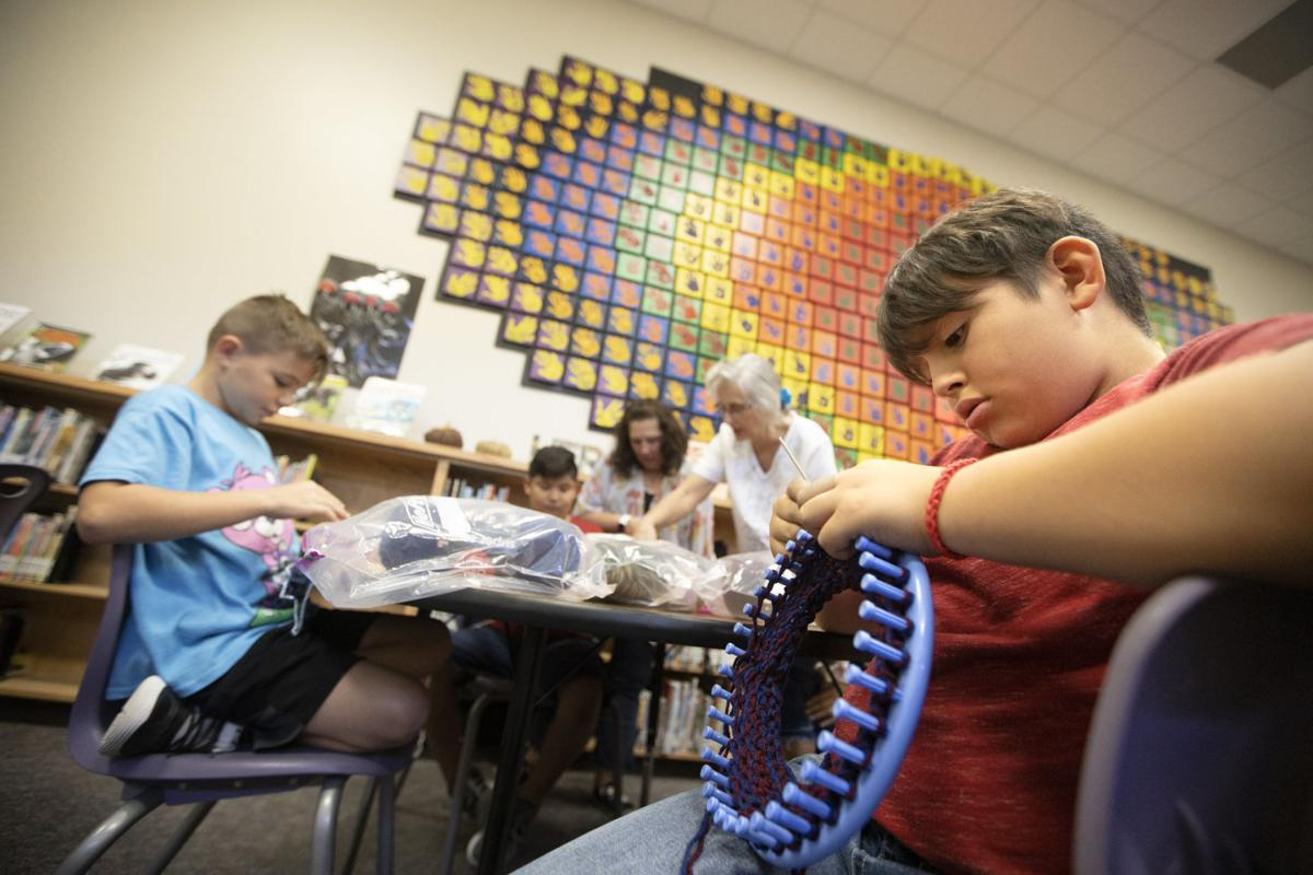 Torres offers students crochet club