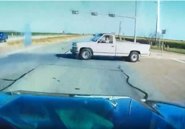 Dash camera captures Victoria County highway crash