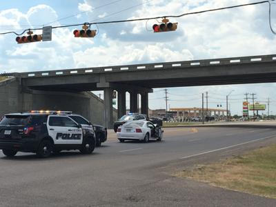 2 vehicles collide at US 87 and US. 77 frontage intersection
