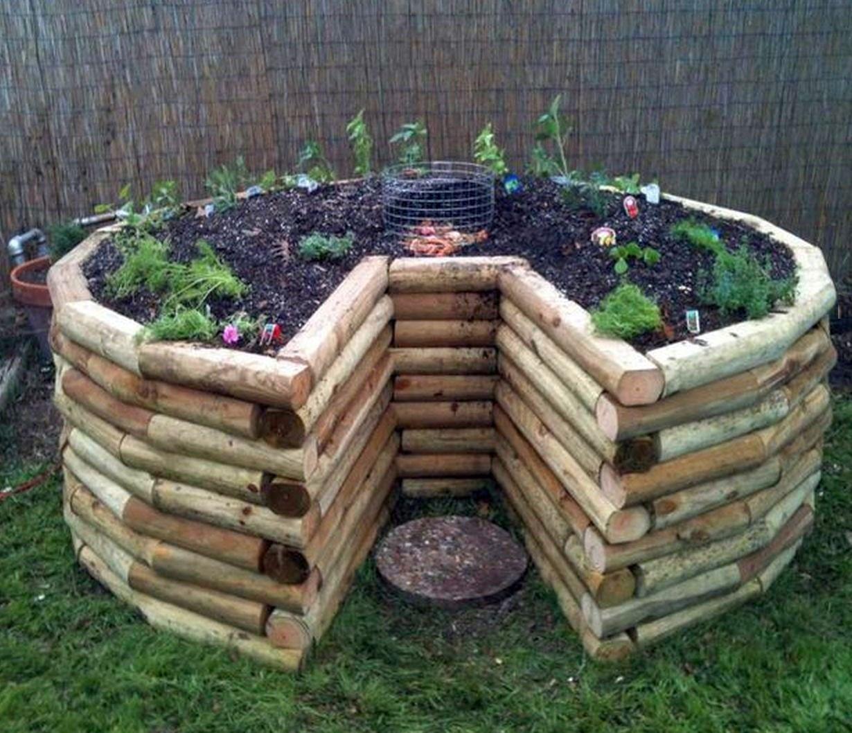 Keyhole Garden Planted