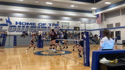 Hallettsville at Edna volleyball