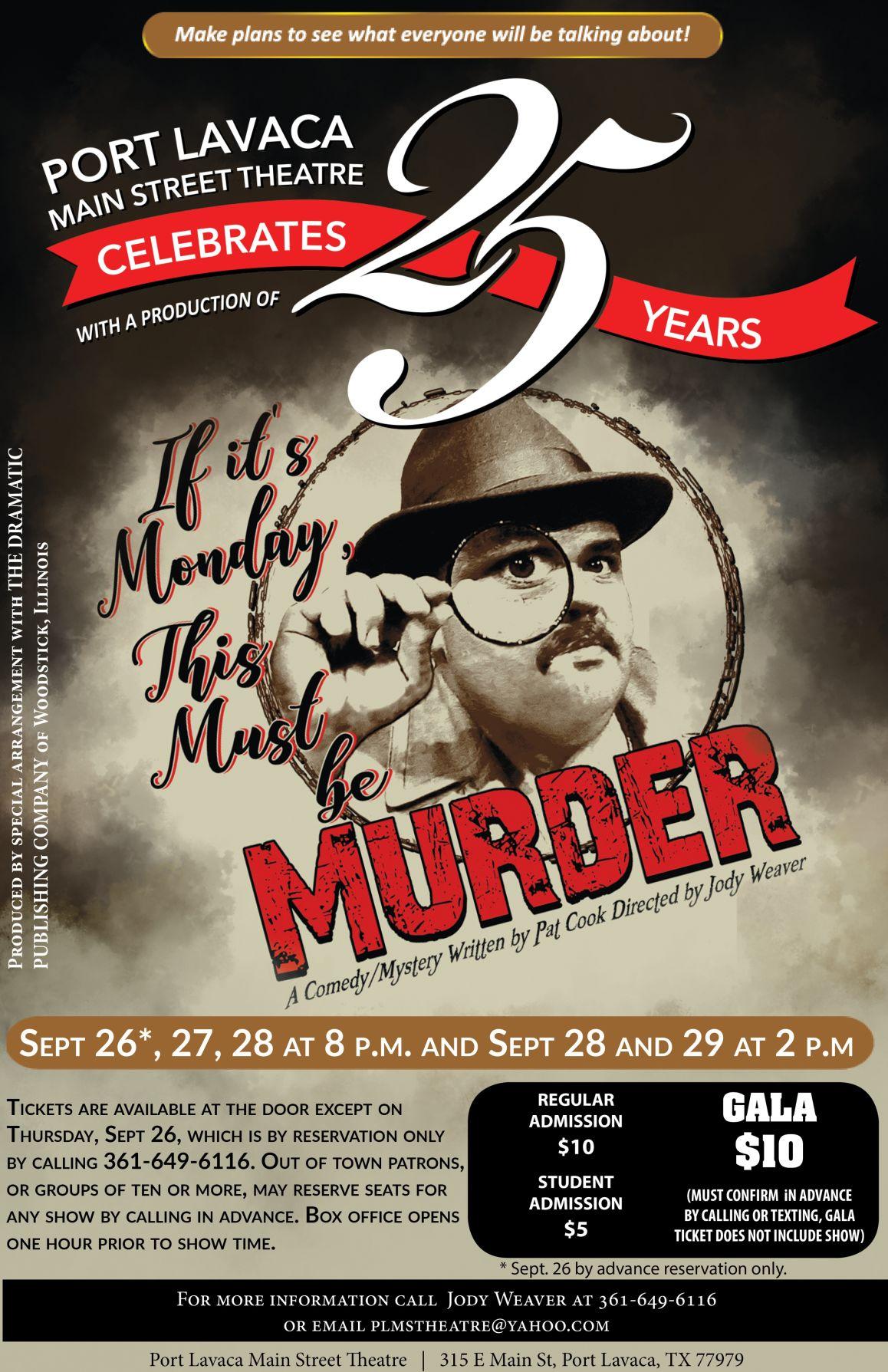 Port Lavaca Main Street Theatre celebrating 25 years