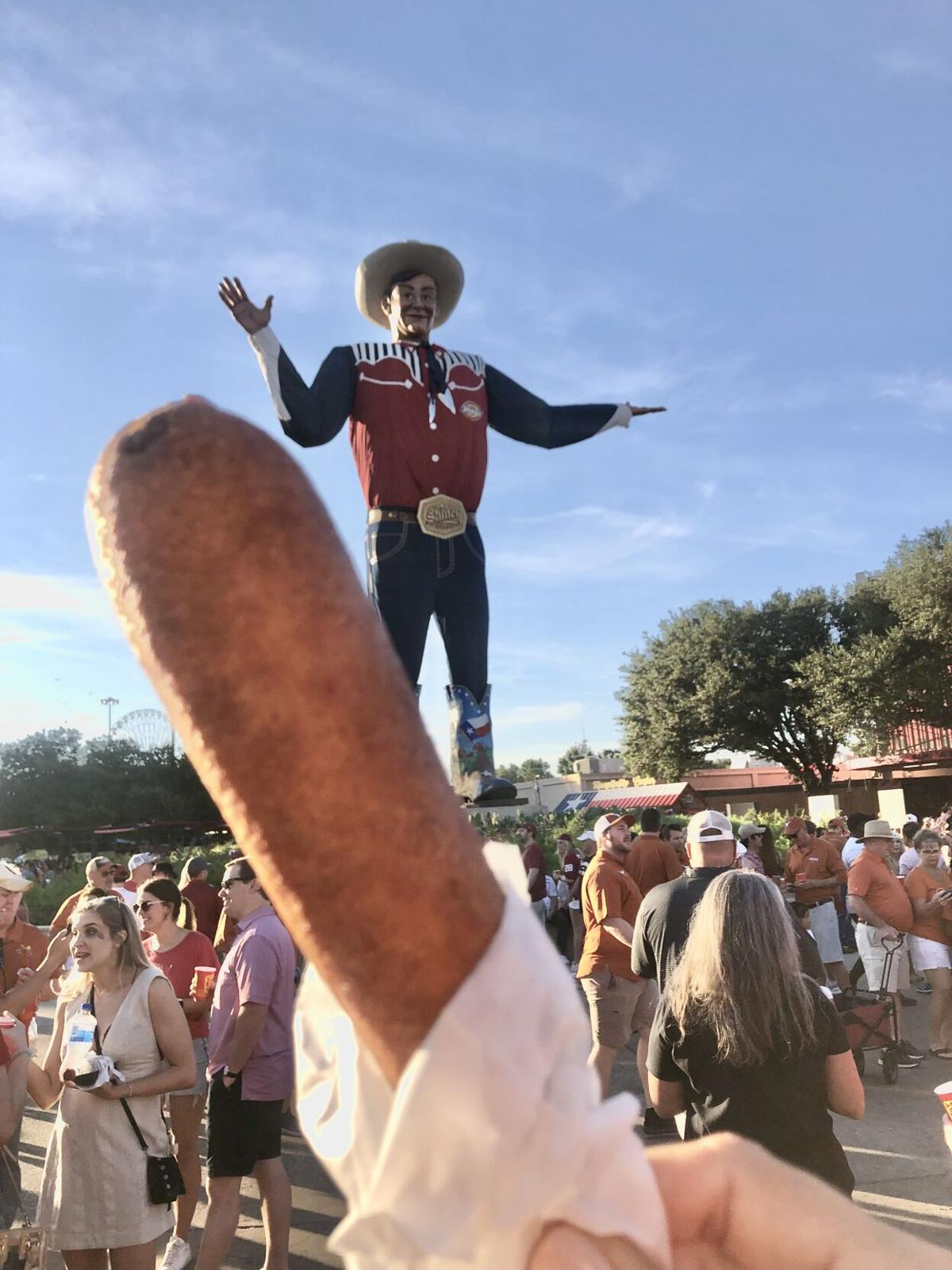 Corny dog and Big Tex