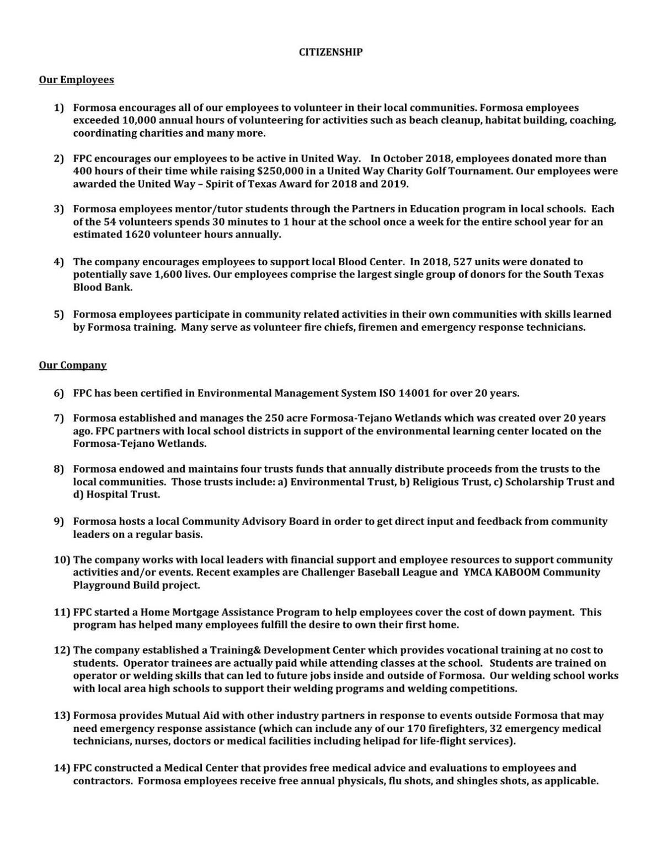 Formosa citizenship