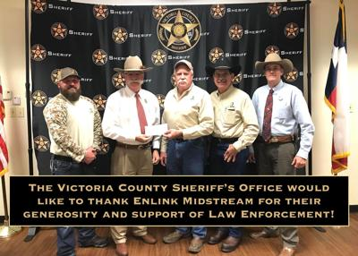 The Victoria County Sheriff's office thanks EnLink Midstream for donation