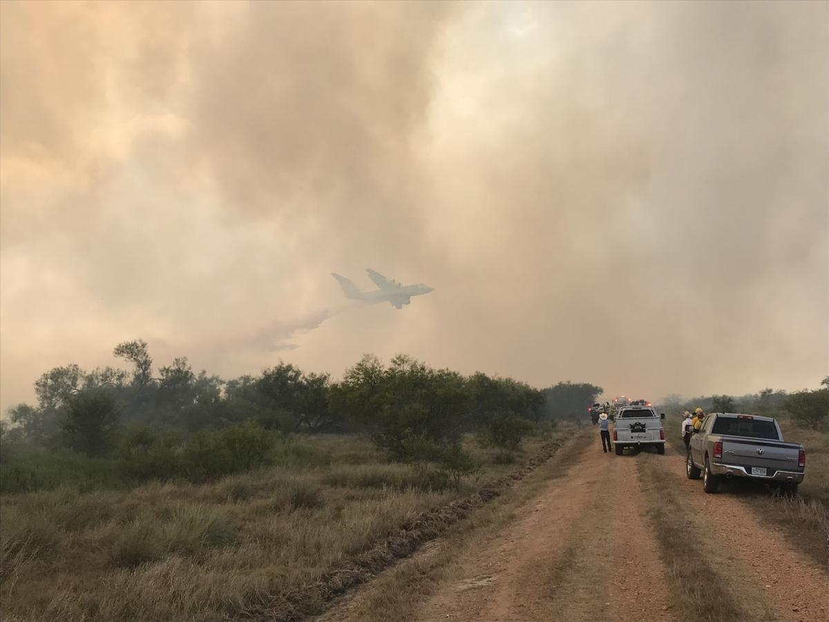 Refugio grass fire spreads to 1,500 acres