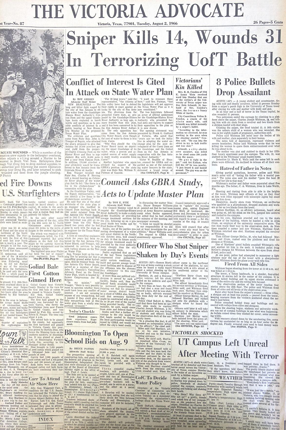 Victoria couple recalls 1966 UT mass killing | Entertainment