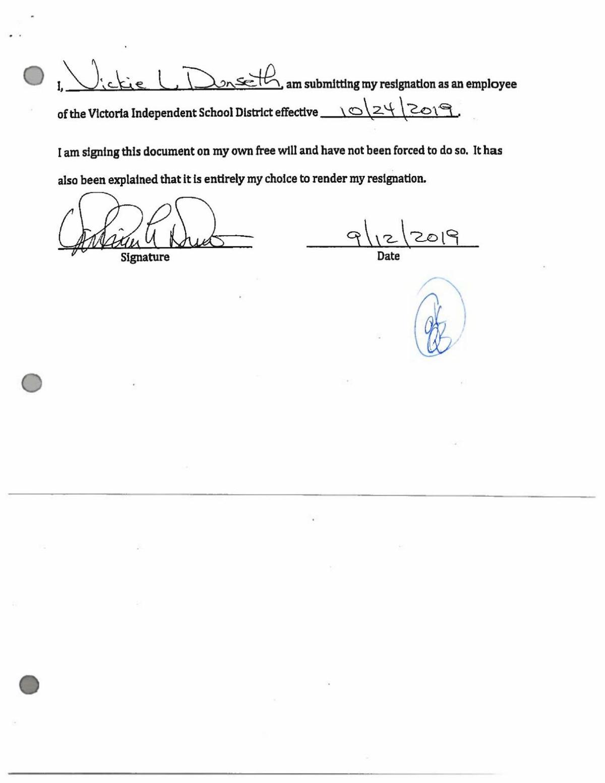 Dunseth resignation