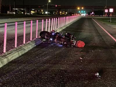 Motorcycle crash at The Texan