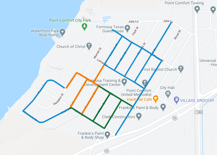 Port Comfort Water Line Replacement Projects