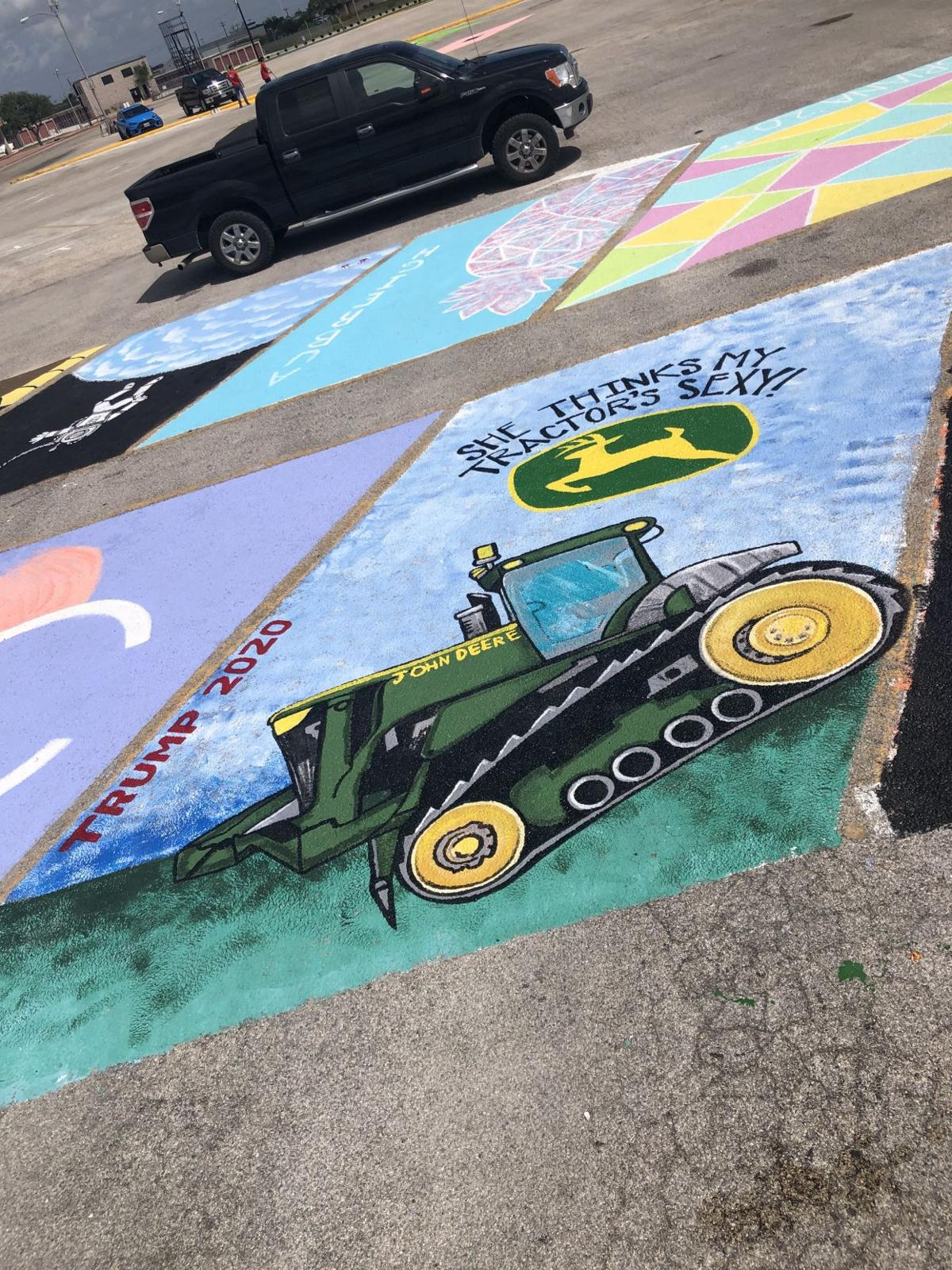 Calhoun student asked to paint over political message on school parking spot